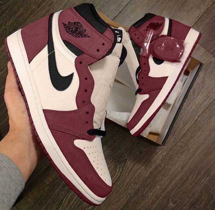 "Nike Air Jordan 1 High ""Burgundy Crush"""